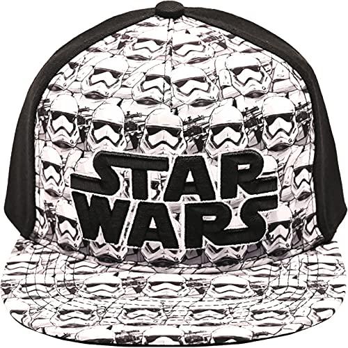 Star Wars Men's Stormtrooper Baseball Cap, Adjustable, Flat Bill Black