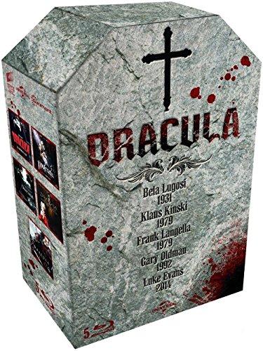 Dracula: Bela Lugosi 1931 + Klaus Kinski 1979 + Frank Langela 1979 + Gary Oldman 1992 + Luke Evans 2014 [Blu-ray]