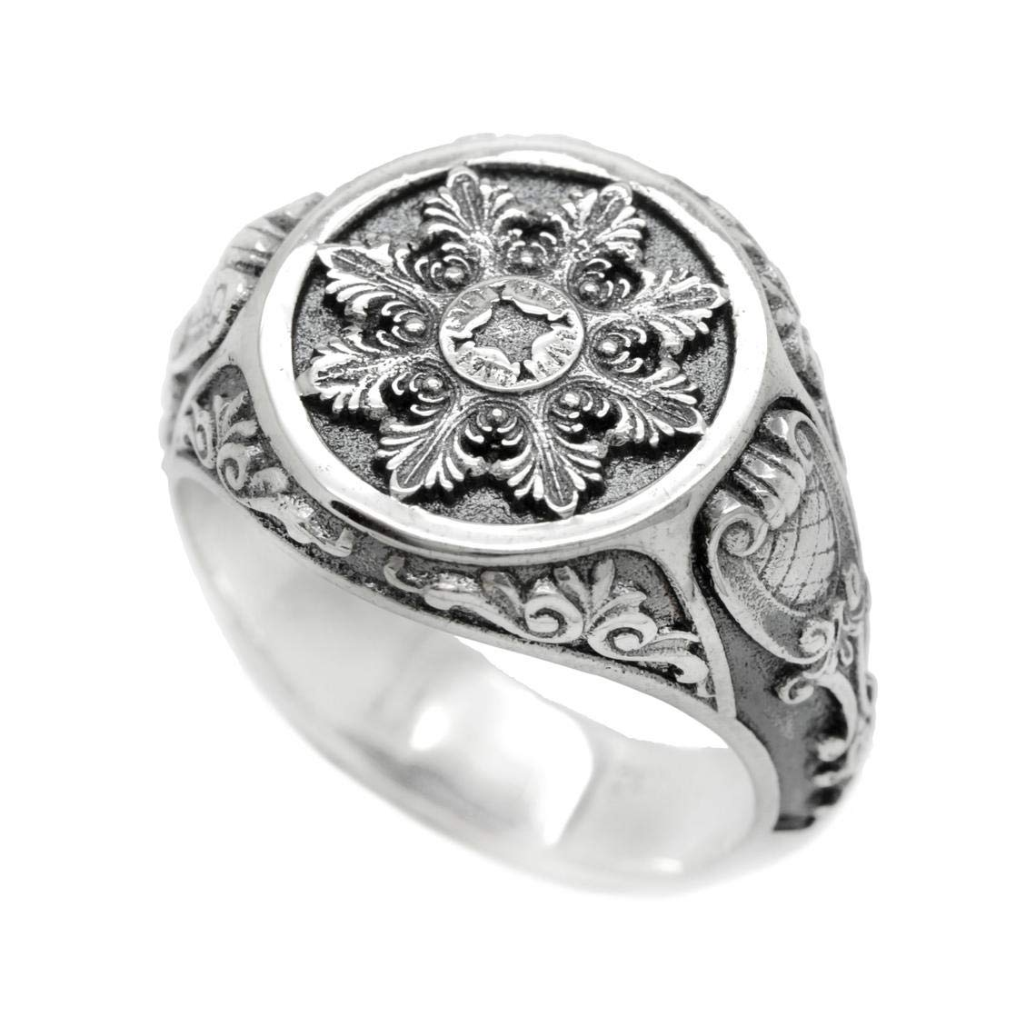 Old-fashion Patterns 55% OFF Mens Silver 35% OFF Signet