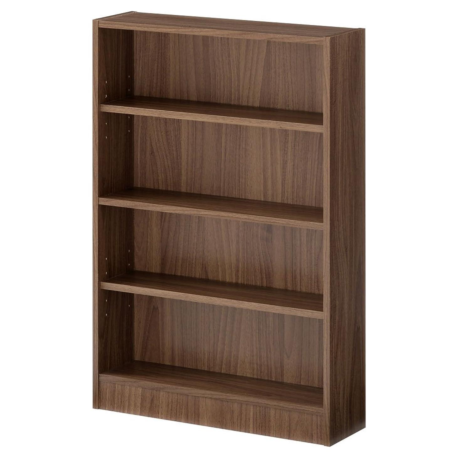 マーキーカーペットシャーぼん家具 【完成品】 本棚 書棚 4段 木製 カラーボックス マンガ 棚 ウォールナット