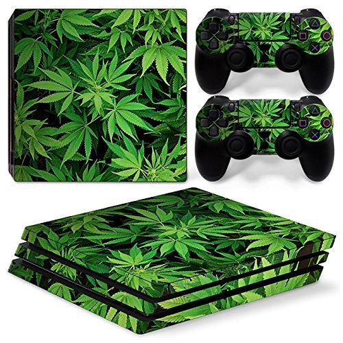 Sony PS4 Playstation 4 Pro Skin Design Foils Pegatina Set - Cannabis 5 Motivo