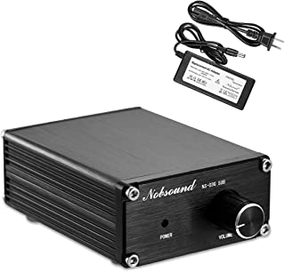 Nobsound 100W Subwoofer Amplifier Digital Power Sub Amp Audio Mini Bass Amp with Power Supply (Black)