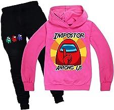 9 Kleuren 2 Stuks Among Us Childrens Cotton Suits Boys And Girls Hoodies En PantsShare, Trainingspak Outfits Stripfiguren ...