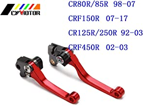 CUSODI | Levers, Ropes & Cables | Motorcycle CNC Pivot Brake Clutch Levers for Honda CR CRF SL XR CRM 80 85 125 150 230 250 400 450 X R L M Motard AR