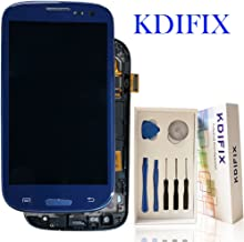 KDIFIX for Samsung Galaxy S3 i9300 i9305 i535 T999 i747 LCD Touch Screen Assembly + Frame with Full Professional Repair Tools kit (Blue+Frame)