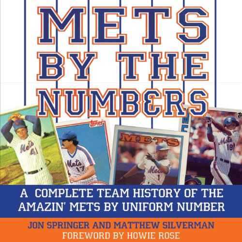 Mets by the Numbers audiobook cover art