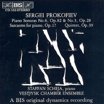 Prokofiev: Piano Sonatas Nos. 3 and 6 / Sarcasms, Op. 17 / Quintet, Op. 39