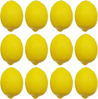 "BigOtters 12pcs Artificial Lemons, 3.7"" x 2.5"" Big Size Vivid Faux Lemon.."