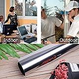 HDM 300 * 61 cm (longueur * largeur) argent-argent Film miroir 99% Protection anti-UV