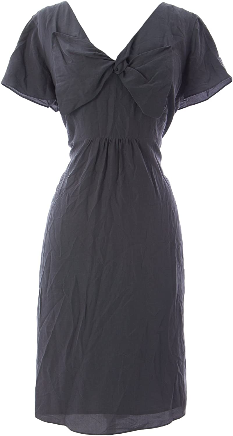 BODEN Women's Silk Bella Dress US Sz 14R Grey