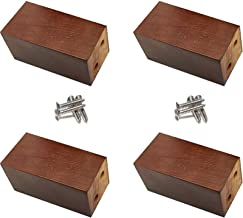 Good Quality 4 Pieces Solid Oak Furniture Legs, Replacement Sofa Table and Chair Legs, Cabinet Legs, Wooden Block Bed Leg...