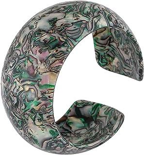 COLORFUL BLING Acrylic Tortoise Shell Wide Open Cuff Bangle Adjustable Acetate Mottled Leopard Print Statement Bracelet Je...