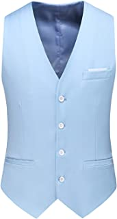 Mens Waistcoat Causal Suit Vests 13 Colors