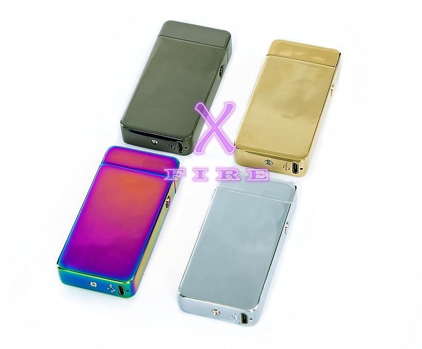 有望パンダケーブルカーX-FIRE ガス オイル 不要 USB 高級電子ライター (ゴールド)