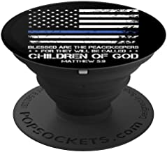 Thin Blue Line Matthew Bible Verse - PopSockets Grip and Stand for Phones and Tablets