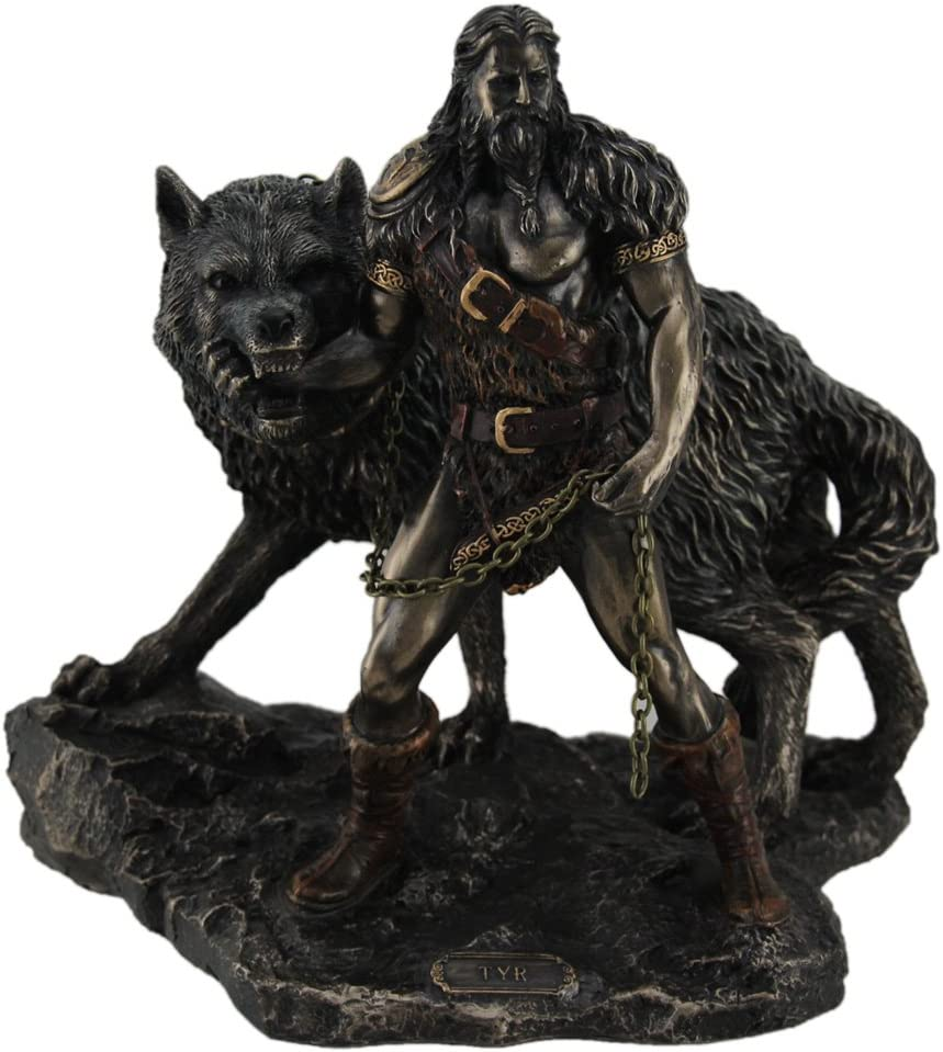Norse God Tyr and the Statue Spasm price Super sale period limited Binding Fenrir of
