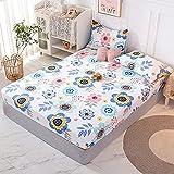 CDDKJDS Juego de 1 colchón de cama 100% algodón, con cuatro esquinas y banda elástica (color: Mimihuayuan, tamaño: 180 x 200 x 25 cm)