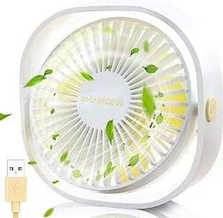 SmartDevil Small Personal USB Desk Fan,3 Speeds Portable Desktop Table Cooling Fan Powered by USB,Strong Wind,Quiet Operat...