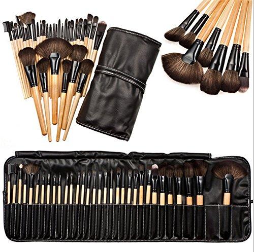 Distinct® 32 stks Zachte Cosmetische Wenkbrauw EyeShadow Make-up Penseel Kit met Buidelzak