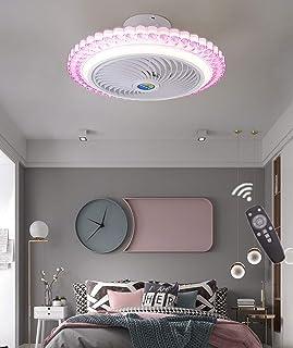 Ventilador De Techo Lámpara De Techo, Moderna LED Ventilador De Techo Control Remoto De Correa Regulable Decoración De Interiores Plafón De Techo Lluminación,Type D