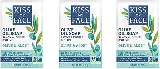 Kiss My Face Pure Olive Oil and Aloe Vera Moisturizing Bar Soap, 8 Ounce, 3 Count