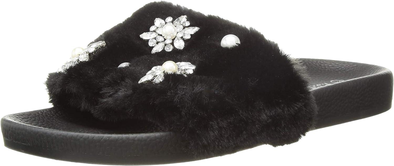PJ Salvage Women's Faux Fur Slide