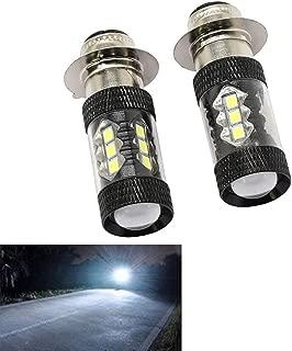DSparts H6M 8000K 80W LED Headlights Fit For Yamaha Raptor Banshee Rhino 125 250 660R 700R YFZ350 YFZ450 YFM250 YFM350 YFM450 YFM660 YFM700 YFM660R LED Bulb