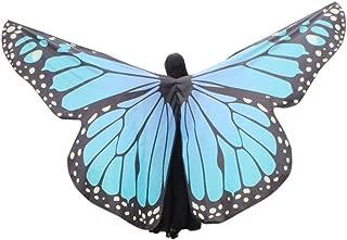 Super Large Butterfly Wings, Kemilove Egypt Belly Fairy Wings Dancing Costume Butterfly Wings Dance Accessories No Sticks (Sky Blue)