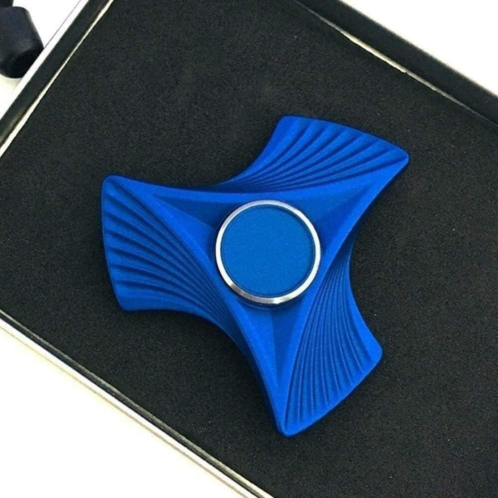Hand Spinne Visvin patroon Vingertop gyroscoop Laat druk Vinger speelgoed EDC gyroscoop Doden tijd Speelgoed cadeau Sensorische speelgoed (Color : Blue) Blue