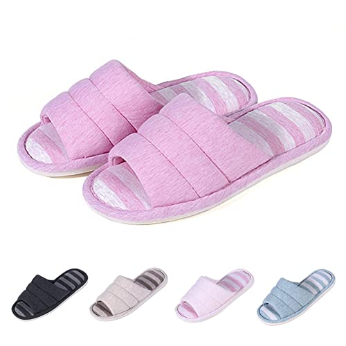 ccc39aa131a Shevalues women soft indoor slippers open toe cotton memory foam slip on home  shoes house slippers