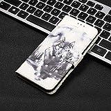 Étui de téléphone portable Grande peinture visuelle 3D Etui en cuir ouvert à gauche et droite...