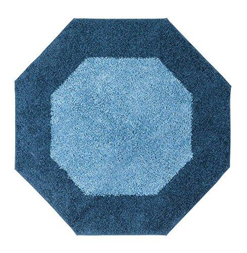 Madison Frisse Teppich, achteckig, 122 x 122 cm, Mineralblau