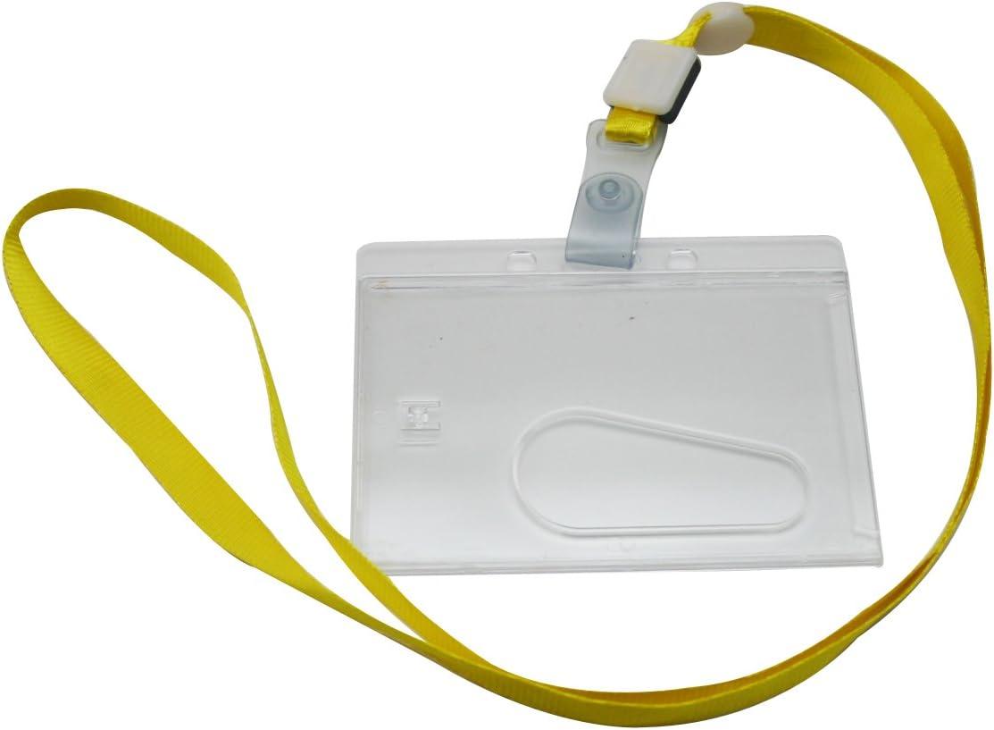 Yongshida Horizontal Card Holder 2021new Regular store shipping free Strap Lanyard Yellow Neck