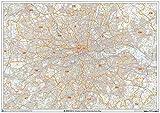 Mapa de pared de Áreas de código postal del Gran Londres - Papel