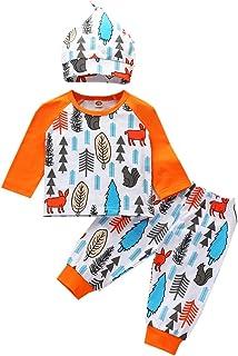 3 قطع ملابس شقيق للمواليد الجدد السناجب والكرتون المطبوعة رومبير القمم + مجموعة ملابس لطيفة