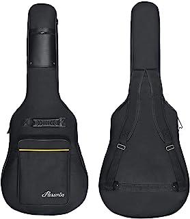 Faswin 41 Inch Guitar Bag Dual Adjustable Shoulder Strap Acoustic Guitar Gig Bag – Black