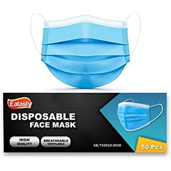 K-MART 50 Pcs Pack Surgical Face Masks 3 Ply - 3 Layers - Sealed box-Breathing Protection Health and Beautician Care Hygienic Face Masks