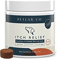 Petlab Co. Itch Chews for Dogs | Treats Designed for Itchy Dogs | May Help with Uncomfortable Skin Conditions | Turmeric...