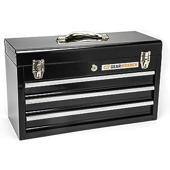 "GEARWRENCH 20"" 3 Drawer Steel Tool Box,  Black - 83151"