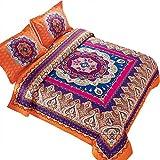 Wake In Cloud - Mandala Comforter Set, Orange...