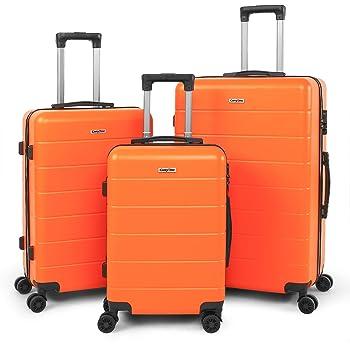 4 Ruedas Giratorias Silenciosas de Doble 20in24in28in para Vacaciones Viaje-19TC1-Rojo Candado Num/érica CarryOne Equipaje Juego de 3 Piezas Maleta Ligero