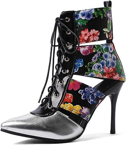 Femmes Les Les Les dames Pointu Toe Stilettos Lace Up Sandals High Heel Fashion Cool bottes Openwork Fine Ribbon Décontracté chaussures Party Evening
