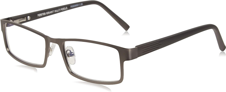 Foster Grant Men's Sawyer Rectangular Multifocus Reading Glasses Max 68% OFF Ranking TOP14