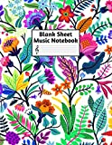 Blank Sheet Music Notebook: Easy Blank Staff Manuscript Book Large 8.5 X 11 Inches Musician Paper Wide 12 Staves Per Page for Piano, Flute, Violin, ... other Musical Instruments - Code : A4 7413