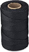 Waxed 100% Polyester Black Twine/Cord | 1,005 feet (335 Yards) | 9-ply | 115-Pound Loop Strength Cable Tie Down Lacing | Made in USA
