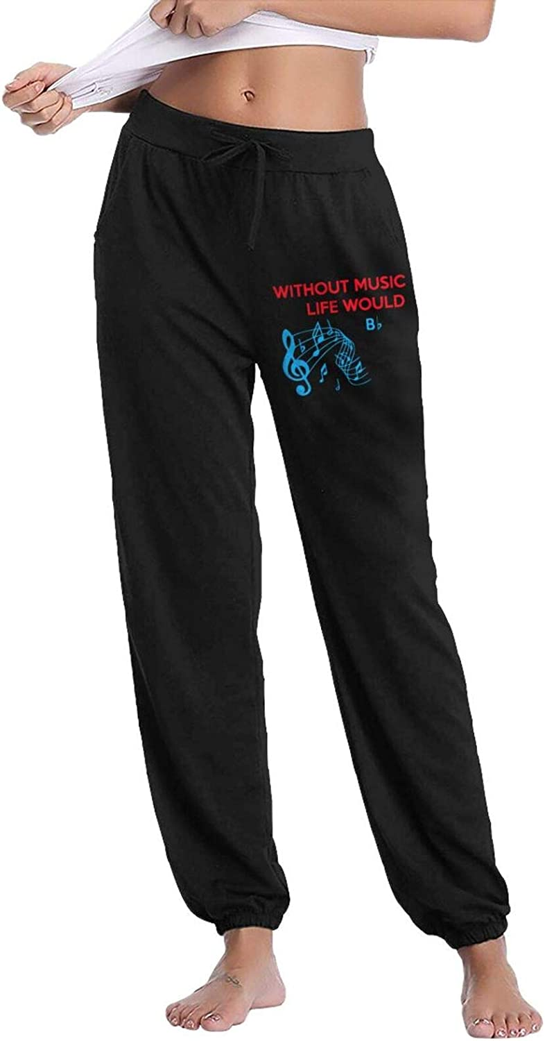 Without Sale price Music Life Would B Sweatpants Denver Mall Jogger Women Pant Elastic