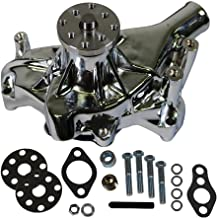Long Water Pump Chrome High Volume for SBC Small Block Chevy 350 383