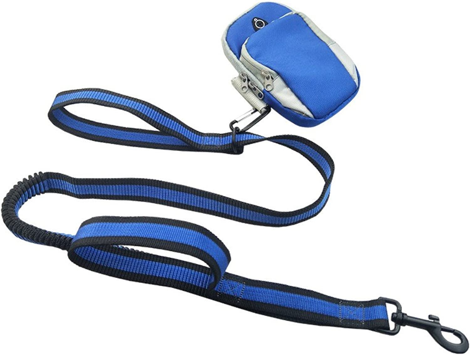 DXABLE Hand Free Dog Leashes, Waterproof Breathable Arm Bags Running Jogging Dog Leash Reflective Elastic Adjustable Rope with Set (bluee)