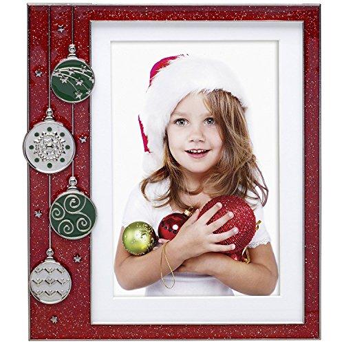 Neil Enterprises Red Ornament Pewter Picture Frame