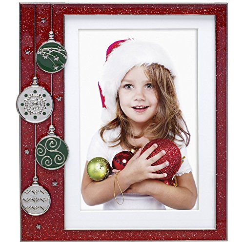Neil Enterprises Red Ornament Pewter Picture Frame